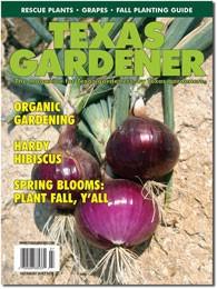 Texas Gardener magazine cover - July-Aug 2018